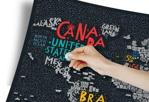 фото Скретч-карта мира Travel Map 'Letters World' #2