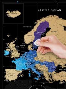 фото Скретч-карта Европы Travel Map 'Europe Black' #3