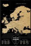 Подарок Скретч-карта Европы Travel Map 'Europe Black'