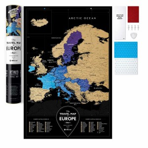 фото Скретч-карта Европы Travel Map 'Europe Black' #5
