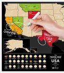 фото Скретч-карта США Travel Map 'USA Black' #5