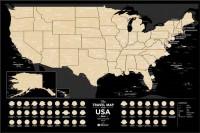 Подарок Скретч-карта США Travel Map 'USA Black'