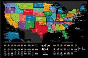 фото Скретч-карта США Travel Map 'USA Black' #2