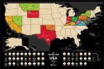 фото Скретч-карта США Travel Map 'USA Black' #3