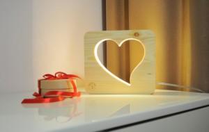 фото Настольная лампа-ночник Creative Light Dream Land 'Сердце' ольха (CL101086) #2