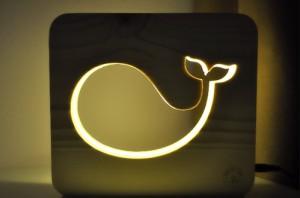 фото Настольная лампа-ночник Creative Light Dream Land 'Кит' сосна, беспроводной (CL101155) #2