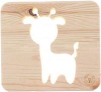 Подарок Настольная лампа-ночник Creative Light Dream Land 'Козлик' сосна, беспроводной (CL101156)