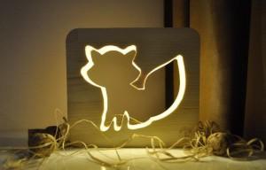 фото Настольная лампа-ночник Creative Light Dream Land 'Лиса' сосна, беспроводной (CL1010731) #2