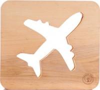 Подарок Настольная лампа-ночник Creative Light Dream Land 'Самолет' сосна, беспроводной (CL1010841)