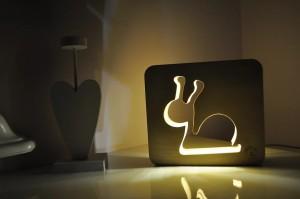 фото Настольная лампа-ночник Creative Light Dream Land 'Улитка' сосна, беспроводной (CL101188) #2