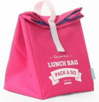Термосумка ланч-бэг Pack&Go Lunch Bag L, розовый