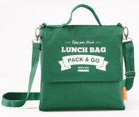 Термосумка ланч-бэг Pack&Go Lunch Bag L+ с логотипом, зелёный