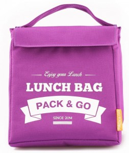Термосумка ланч-бэг Pack&Go Lunch Bag M, фиолетовый