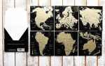 Подарок Набор скретч-открыток My Map 'Карта Мира. Континенты' в подарочном конверте