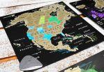 фото Набор скретч-открыток My Map 'Карта Мира. Континенты' в подарочном конверте #3