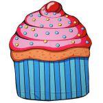 Подарок Пляжный коврик 'Кекс' (top-464)
