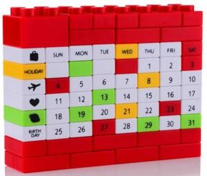 Подарок Вечный календарь LEGO Red (top-513)