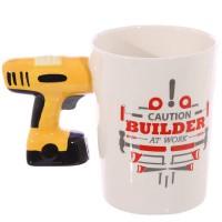 Подарок Керамическая чашка Caution Building дрель (top-632)