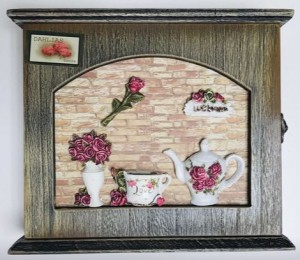 Подарок Ключница настенная Чайная Роза (top-619)