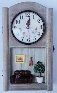 Подарок Ключница настенная с часами Гармония (top-624)