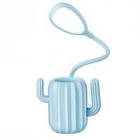 Подарок Настольная Лампа Кактус Blue (top-654)