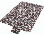 Подарок Водонепроницаемый коврик для пикника Фламинго Black (top-540)