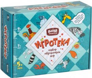 Настольная игра Банда Умников 'Игротека 5+' (Этажики + Зверобуквы + Турбосчёт + Трафик Джем + подарочная коробка) (УМ080)
