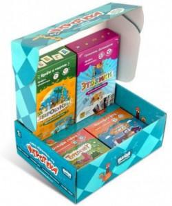 фото Настольная игра Банда Умников 'Игротека 5+' (Этажики + Зверобуквы + Турбосчёт + Трафик Джем + подарочная коробка) (УМ080) #2