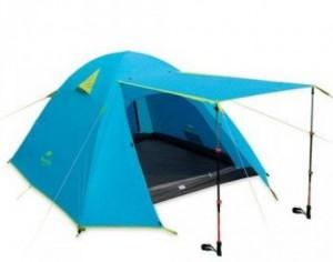 фото Палатка NatureHike P-Series 4 (4-х местная) 210T 65D polyester Graphic (6927595729694) #5