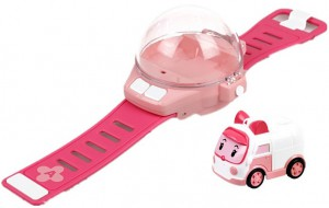 Часы Silverlit 'Robocar Poli Эмбер' с мини-машинкой на радиоуправлении (83391)