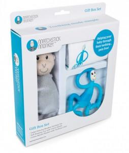 фото Подарочный набор Matchistick Monkey , Blue(пеленка,прорезыватель,мягкая игрушка) (659436669871) #2