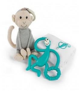 Подарочный набор Matchistick Monkey , Green (пеленка,прорезыватель,мягкая игрушка) (611901211015)