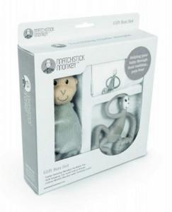 фото Подарочный набор Matchistick Monkey ,Grey(пеленка,прорезыватель,мягкая игрушка) (659436669888) #3