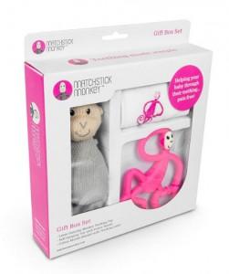 фото Подарочный набор Matchistick Monkey , Pink (пеленка,прорезыватель,мягкая игрушка) (659436669864) #2
