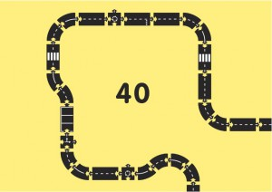 Гибкая автомобильная трасса Waytoplay 'Королевская дорога '(40 дорожных частей, длина 648см) (8717953201652)