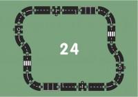 Гибкая автомобильная трасса Waytoplay 'Шоссе'(24 дорожных частей, длина 376см) (8717953201645)