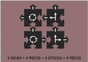 Набор дополнительных элементов  Waytoplay 'Перекресток'(4 дорожные части) (8717953201690)