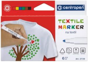 Набор специальных маркеров для текстиля Centropen Textile 1.8 мм 6 шт (2739.6)