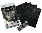 Книга Раскраска Centropen на чёрной бумаге 4 листа A4 6 маркеров 1 мм (9390)