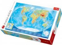 Пазл Trefl Большая физическая карта мира, 4000 элементов (5900511450071)
