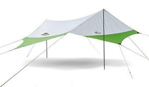 Тент кемпинговый NatureHike 210T polyester  4.0х3.5 м Green (6927595787779)
