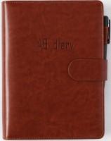 Бизнес-ежедневник AB diary, коричневый