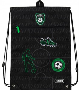 Сумка для обуви с карманом Kite Education Football (K19-601M-16)