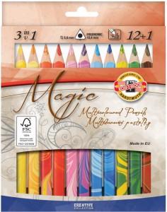 Карандаши цветные Koh-i-Noor 'Magic' 12 цветов + блендер (340801)