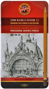 Набор карандашей графитовых Koh-i-Noor 'Art' 8В-2Н, 12 шт. (1502.ІІ)