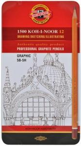 Набор карандашей графитовых Koh-i-Noor 'Graphic' 5В-5Н, 12 шт. (1502.ІІІ)