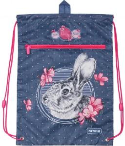 Сумка для обуви с карманом Kite Education Fluffy bunny (K19-601M-3)