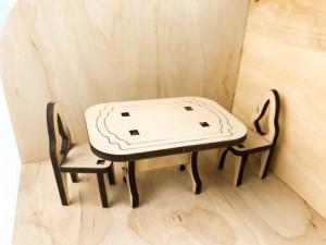 фото Дерев'яний 3D конструктор Зірка 'Лялькова кімната. Кухня' (115454) #5