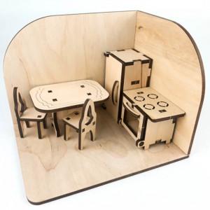 фото Дерев'яний 3D конструктор Зірка 'Лялькова кімната. Кухня' (115454) #3