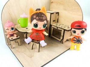 фото Дерев'яний 3D конструктор Зірка 'Лялькова кімната. Кухня' (115454) #8